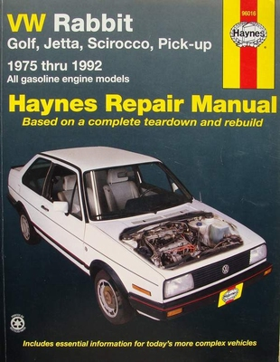 Haynes Repair Manual - VW Rabbit, Golf, Jetta, Scirocco