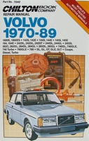 Chilton's Repair Manual - Volvo, 1970-89